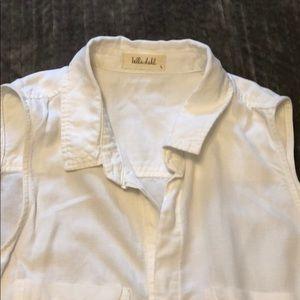 Bella Dahl button front blouse L
